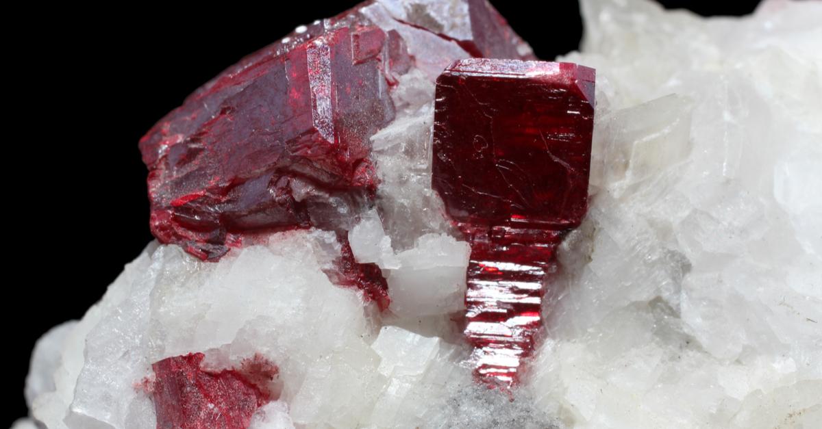 辰砂 シンシャ 原石 結晶