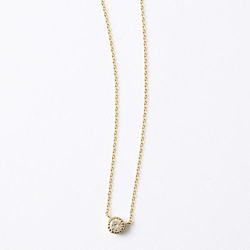 Pure dia necklace