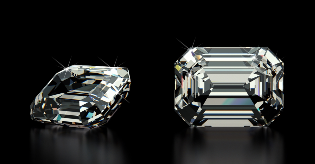 エメラルドカット ダイヤモンド1