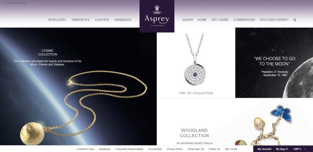 Asprey(アスプレイ)webサイトTOP