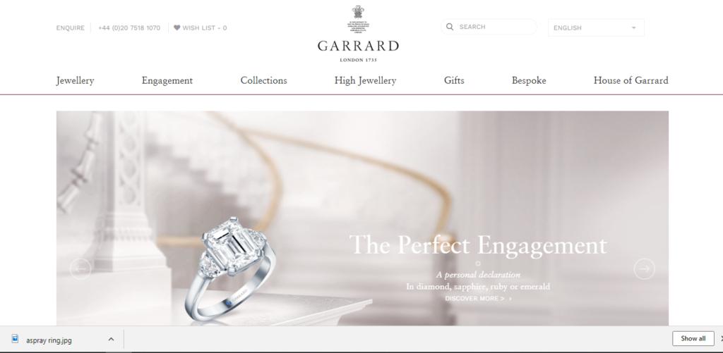 House of Garrard(ハウス・オブ・ガラード)webサイトTOP