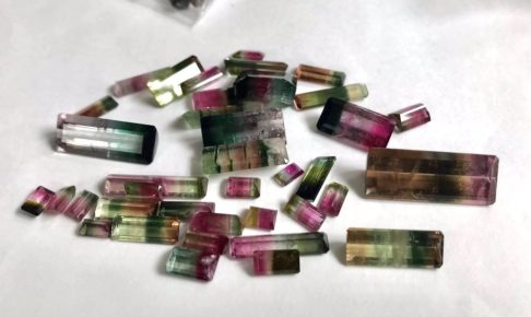 タイ チャンタブリ 宝石 買い付け バイカラートルマリン