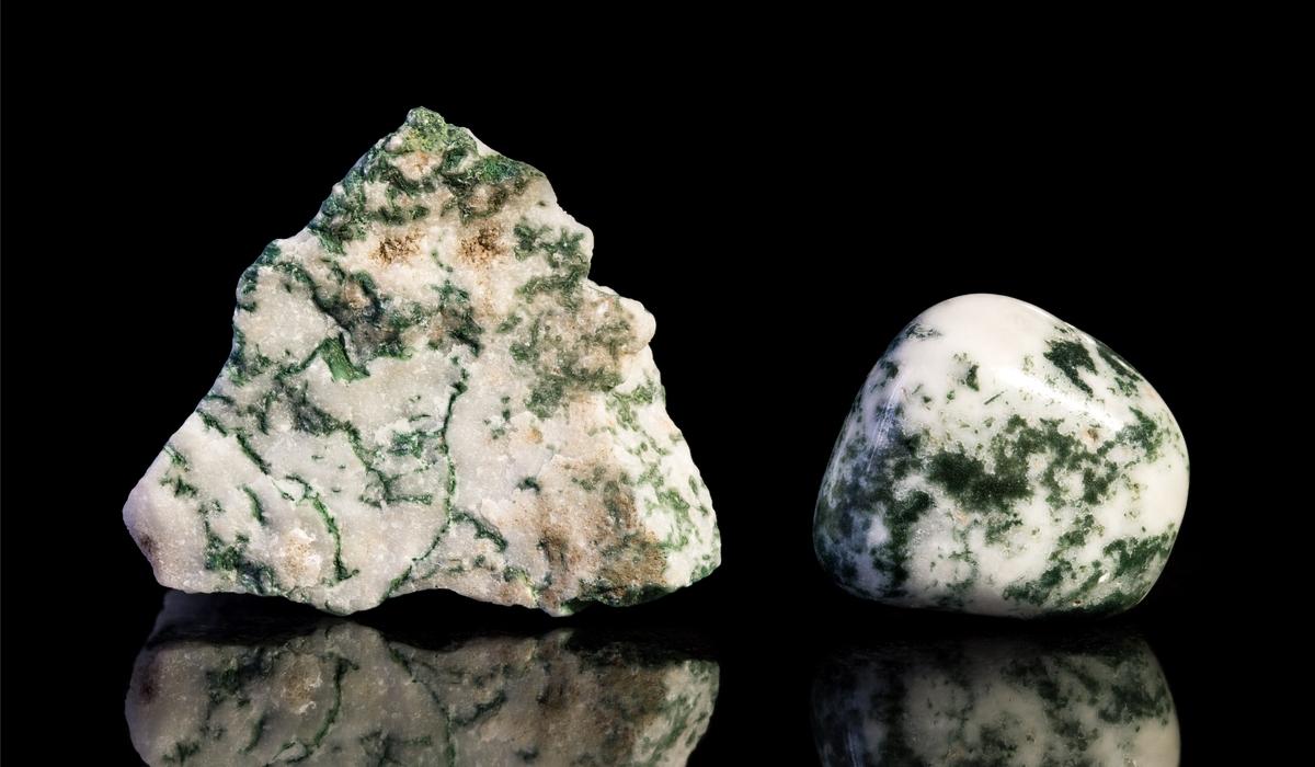 モスアゲート 原石とルース