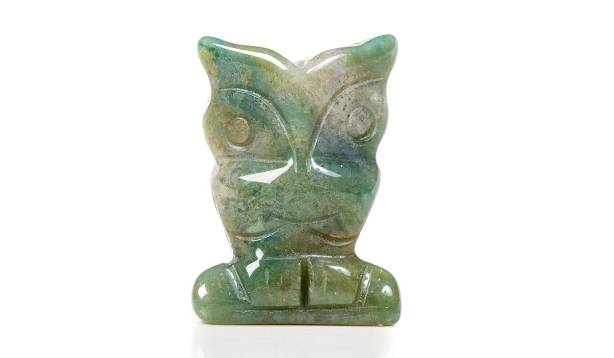 モスアゲート 彫刻