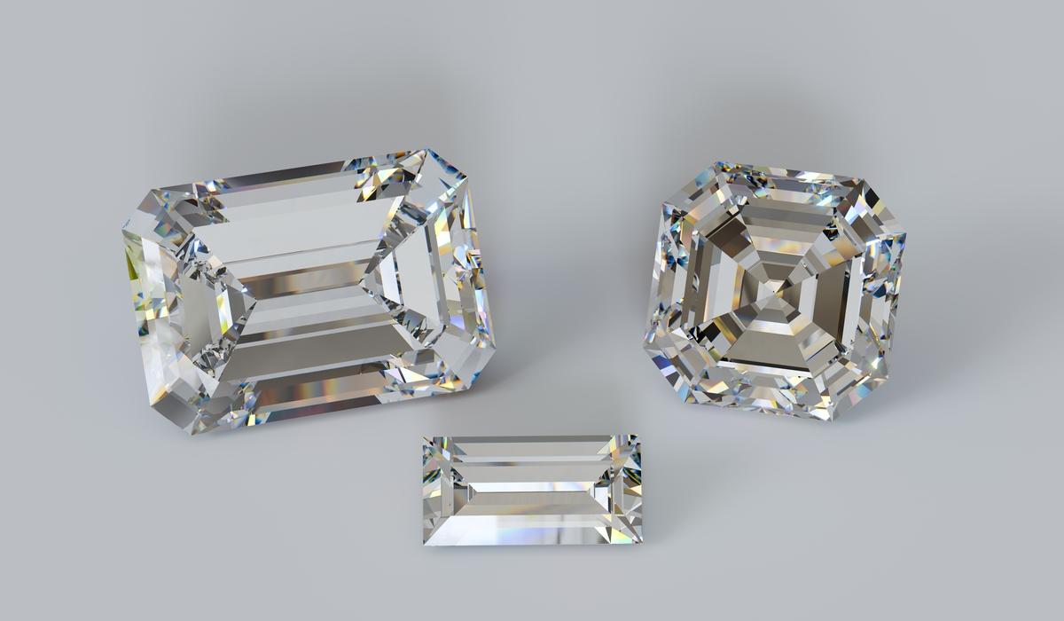 ステップカット ダイヤモンド