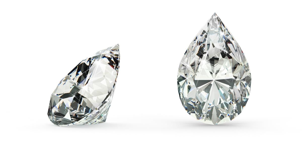 ペアシェイプカット ダイヤモンド