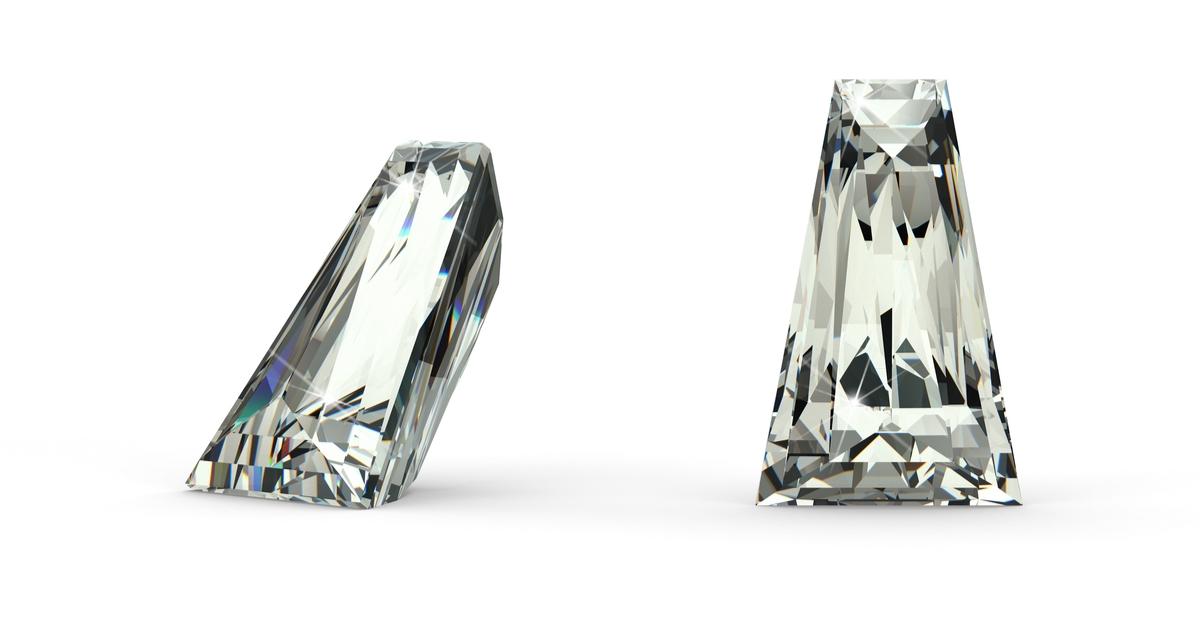 テーパーカットカット ダイヤモンド