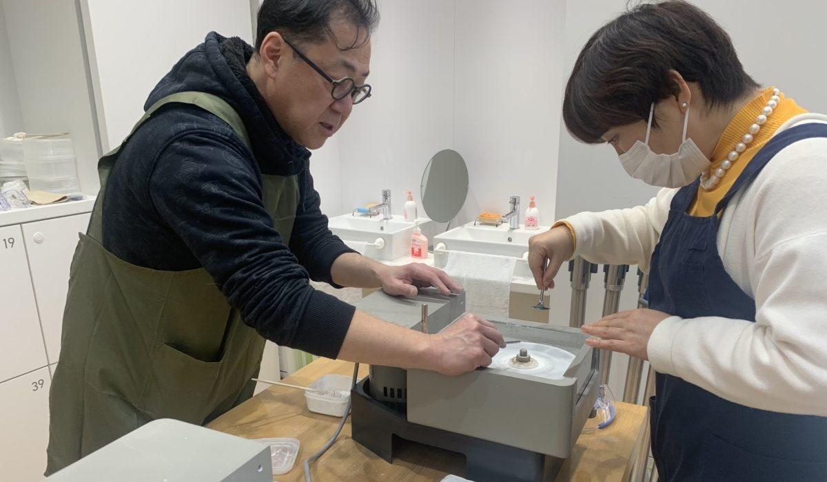 山梨ジュエリーミュージアム 研磨体験