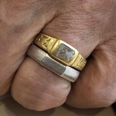 ラフダイヤモンド 指輪