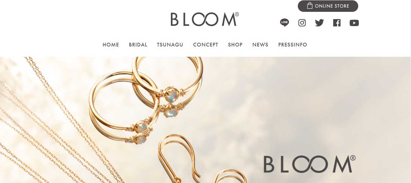 BLOOM公式サイトTOP