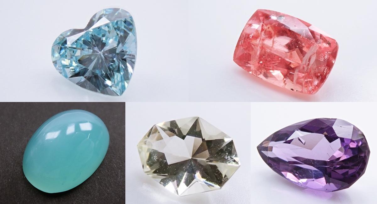 劈開性をもつ宝石たち