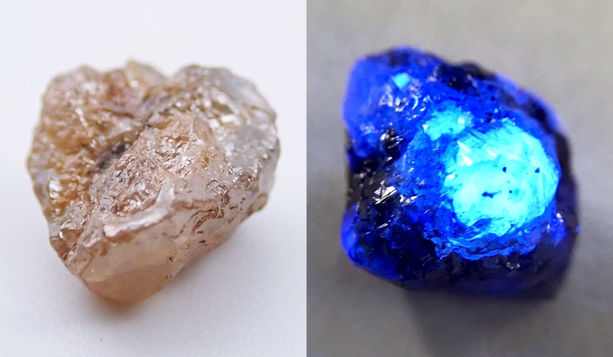 ダイヤモンド 原石 ラフダイヤモンド 蛍光