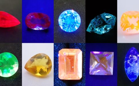 蛍光性 宝石