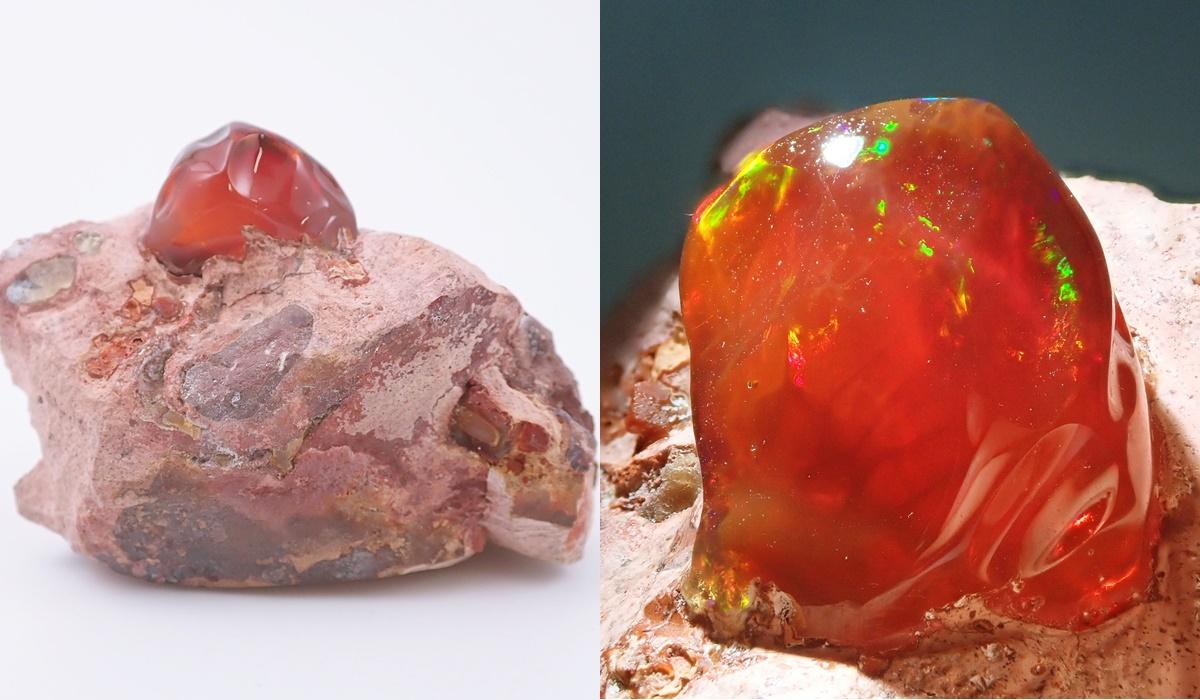 ファイアオパール 原石