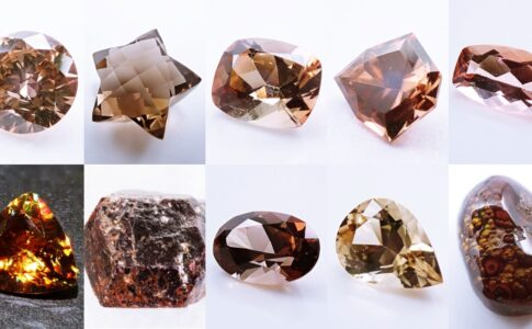 茶色 ブラウン 宝石