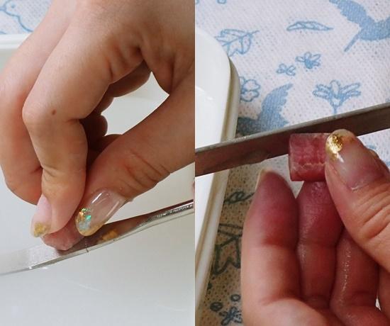 ダイヤモンドヤスリで削る2