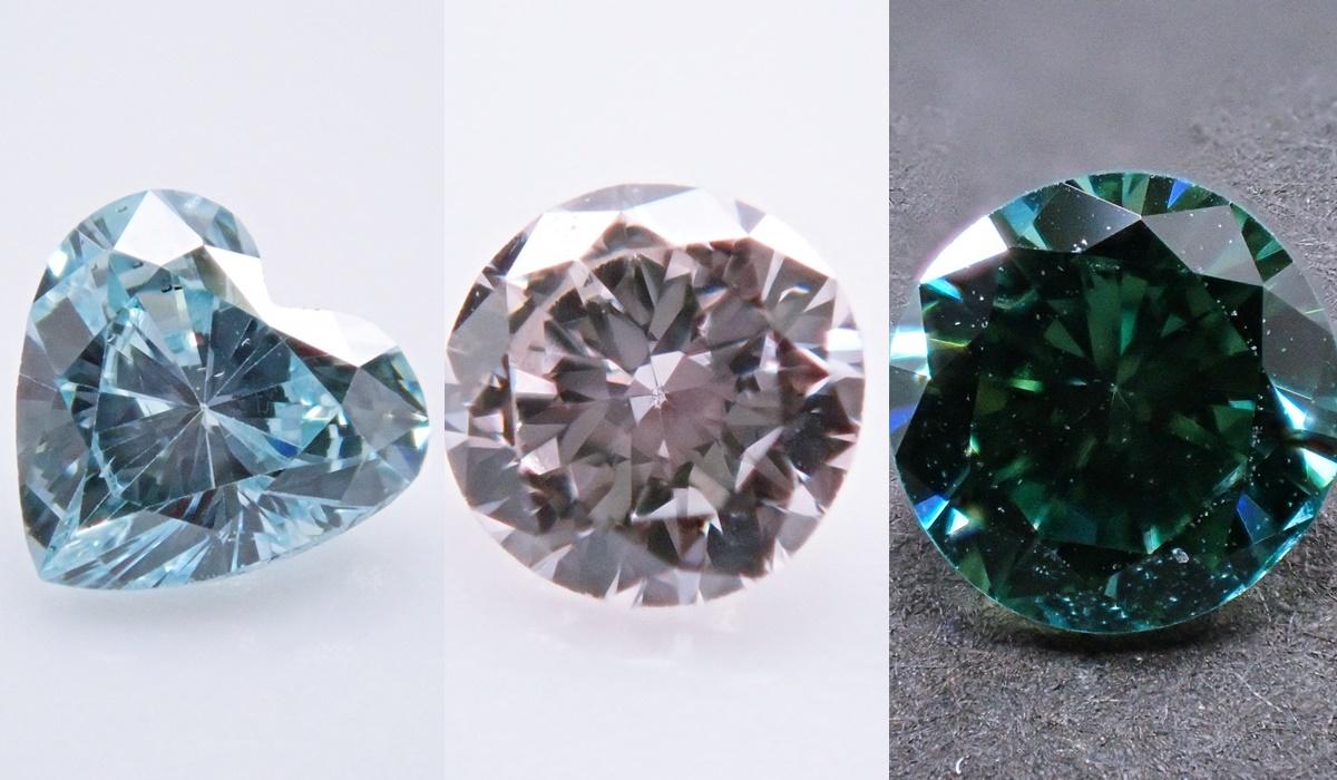 アイスブルーダイヤモンド ピンクダイヤモンド グリーンダイヤモンド